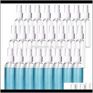 Storage Jars Plastic Clear Spray Bottles 60Ml 2Oz Refillable Fine Mist Sprayer Travel Bottle Makeup Cosmetic Atomizers Reusable Empty Xezuc