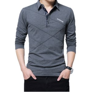 5xl polo shirt collar hombres más tamaño 3xl 4xl otoño botón marca hombre polo camisa de manga larga casual camisa de sexo masculino vestido polo camisas