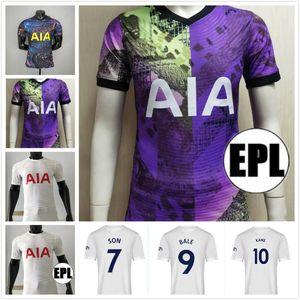 Jogador Versão 21 22 22 Dele Filho Tottenham Bale Kane Futebol Jerseys Hojbjerg Bergwijn Lo Celso Spurs 2021 2022 Lucas Futebol Camisa Uniforme