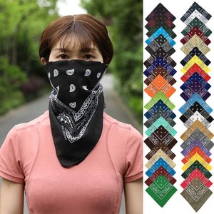 Cashew Bandanas Pure Cotton with Flower Amoeba Multifunction Square Scarf in Paisley Hip-hop Magic Headscarf Mask Headband for Womens Mens