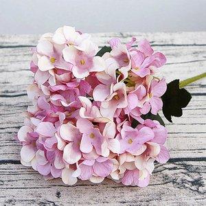 Hydrangea de seda Regalos de bricolaje Decoración de Navidad de boda para flores falsas para el hogar Productos domésticos de plástico Flores artificiales Ratán
