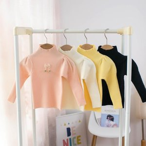 Pullover Girls Sweater Solid Color Bottoming Shirt For Autumn And Winter 2021.