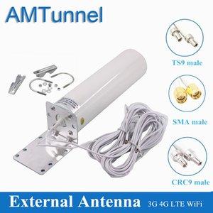 WiFi Antenna 4G LTE Antena SMA 12DBI Omni Antenne 3G TS9 Мужской 5 м Двойной кабель 2.4 ГГц CRC9 для роутеров Huawei B315 E8372 E3372 ZTE