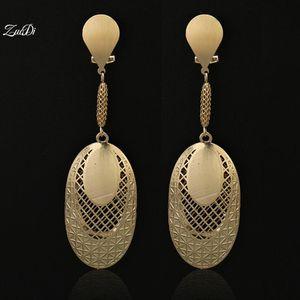 ZuoDi Fashion Jewelry 2021 Long Drop Dangle Women Earrings High Quality Zircon Gold For Wedding Party Daily Wear Gift & Chandelier