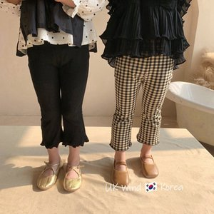 Baby kids Girls pants children's baby girls cotton casual spring summer new girls fashionable tight flare pants trousers P4 109