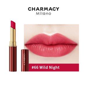 CHARMACY Velvet Lipstick Lightweight Matte Color Smooth Long-lasting High Pigment Silky Texture Lipsticks Nude Makeup