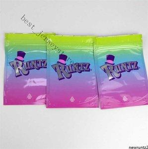 3.5 Mylar cheiro comprovado bolsa bolinhos Major League Exotics Runtz conectado Lemon PackAing Bag Sacos de doces grátis