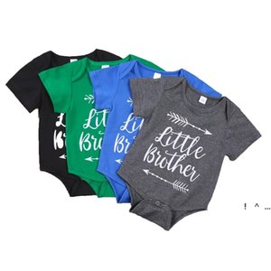Baby Infant Boy Clothes Romper Girl Letter Printing Short Sleeve Rompers Babys Climbing 100% Cotton Summer Cloth FWC7373