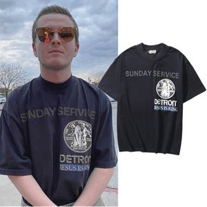 CPFM Kanye Gesù è il re Album Hip Hop City T-shirt a maniche corte in schiuma ad alto collegamento per uomo e donne