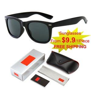 Orijinal Yüksek Kaliteli Lüks Güneş Gözlüğü Klasik Moda Gözlüğü UV400 Hediye Kutusu Seti Açık Spor Sürüş Bisiklet Plaj Eğlence Partisi