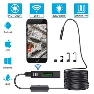 WiFi Endoscope Mini Camera HD 1200P Lenses Filters Waterproof Phone Picture Record Video For Underwater Air Conditioner Sewer Hole Ceiling Machine Repair Detect