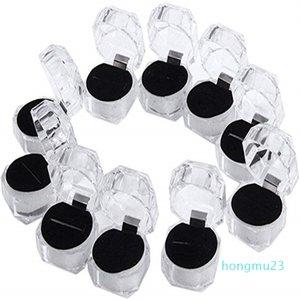 Прозрачные пластиковые кольца Серьги Дисплеи Ящики Подвесные Бусины Хранения Организатор Ящики Пакет Чехол Подарочная коробка