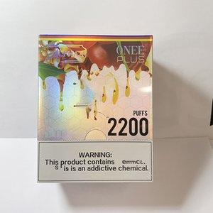120 adet Alphaa Onee Artı 2200 Puffs Tek Kullanımlık E-Sigarası Vape Kalem Cihazı PK 1900 Puf Sopa Elektronik Sigaralar UPS Vergi Ücretsiz Teslimat