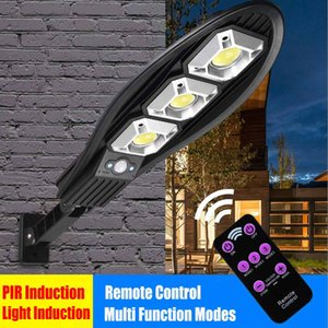 2021 LED Solar Motion Sensor Wall Light Outdoor Street Lamp Waterproof Adjustable Brightness Garden Street Lamp With Remote Control