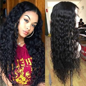 Lace Wigs Wet And Wavy Front Wig Transparent Water Wave Human Hair T Part Natural Curly