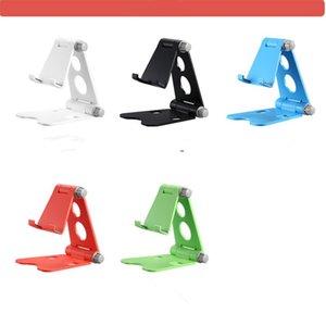 Plastic double folding mini portable Mobile phone holder stand desktop tablet