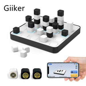 GiiKER Board Game Smart Four Connected Magnetic 3D Four-in A Row Games with Intelligent AI-Powered App-Enabled Boards