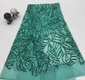 Ribbon Sequins Lace Fabric Nigerian French Embroidered African High Quality Mesh TS9083