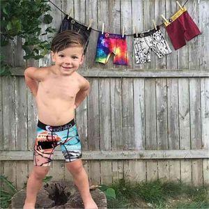 Yaz Erkek Mektuplar Baskılı Külot Çocuklar Çocuğun Boksörleri Mayo Plaj Açık Seyahat Trendy Çocuk Külot Mayo Mayo H7301