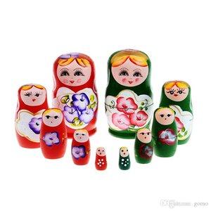 5pcs set Wood Russian Dolls Set Wooden Nesting Babushka Matryoshka Hand Paint Dolls Baby Toys for Girls
