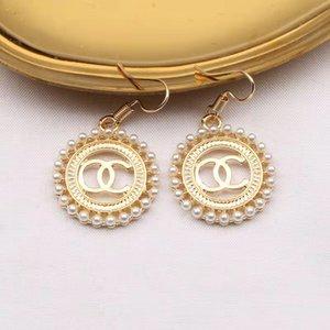 Fashion pearl luxury design stud earrings little fairy wild earring retro circle earwear jewelry