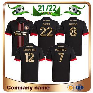 21/22 mls Atlanta United FC Soccer Jerseys 2021 Away Noir Maillots de Foot Martínez Barco Shirt de football Robinson Damm