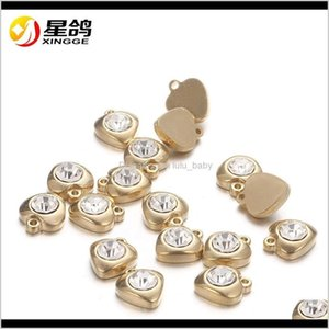 Goldsier Fashion Design Plated Love Heart Pendants For Diy Jewelry Making Necklace Stainless Steel Charms Craft Pntn5 D4Ofk