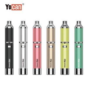 Yocan Evolve 플러스 키트 1100mAh 기화기 왁스 펜 석영 듀얼 코일 E Cigs 6colors 보라색의 업데이트 버전