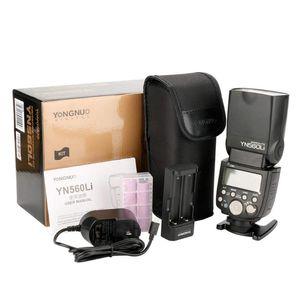 Yn560li Kit Wireless Master Slave Flash SpeedLite para DSLR Câmera Lithium Battery Supply Flashes