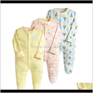 Jumpsuits&Rompers Baby, Kids & Maternity Drop Delivery 2021 Footies 3Pcs Sets Baby Rompers Boys Jumpsuit Born Clothes Toddler Born Girl Long