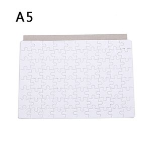 Sublimation Blanks Puzzles A5 White Jigsaw Puzzle Blank Puzzles DIY Blank Puzzle for Sublimation Transfer Thermal Transfer Heat Press Printing Crafts, 80 Pieces  Set