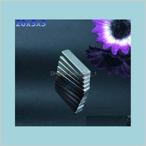 Magnets Fasteners & Hardware Industrial Supplies Mro Office School Business 50Pcs N50 20X5X3Mm Strong Block Cuboid Rare Earth Neodymiu