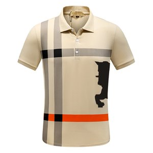 2021 Italy Mens Designer Polo Shirts Man High Street Embroidery Garter Printing Brands Top Quality Cottom Clothing Tees