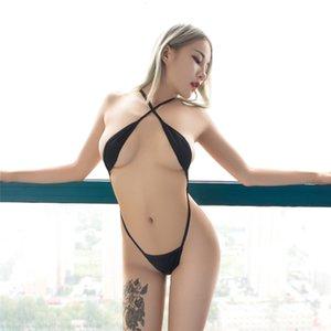 Traje de baño Sexy Micro Bikini 2021 Cadena de perspectiva Canotta Desnuda Expose el vientre Sexy Bikini Bañándose Trajes de mujeres de un pedazo de bikini