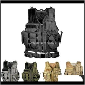 Vests Tactical Multipocket Swat Army Cs Hunting Vest Camping Hiking Accessories T190920 Hd0Be 6Fjxi