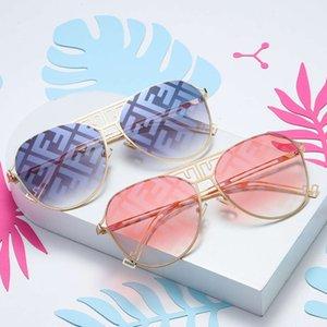Sunglasses 2021 letter F trend sunglasses Fashion men's and women's thin toad glasses