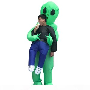 Halloween Men Women Funny Kidnapped by Aliens Cosply Costumes Male Female Party Mascot Costumes Inflatable Clothing