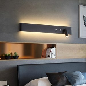 Wall Lamps Modern Minimalist Lamp Bedroom Bedside El Interior Black White With Switch Rotatable Fashion Decorative Bracket Light