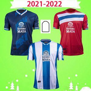 21 22 Maillots de football RCD Espanyol R.D.T WU LEI 2021 2022 Domicile Maillot de football extérieur PUADO PEDROSA EZZARFANI uniformes DAVID LÓPEZ EMBARBA Camiseta de futbol