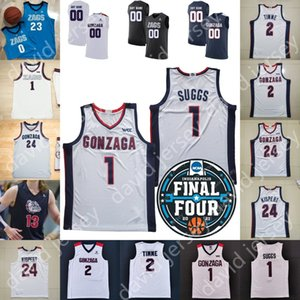 2021 Final Dört 4 Gonzaga Bulldogs Basketbol Jersey NCAA Koleji JALEN Suggs Stockton Corey Kispert Drew Timme Anton Watson Andrew Nembhard Pavel