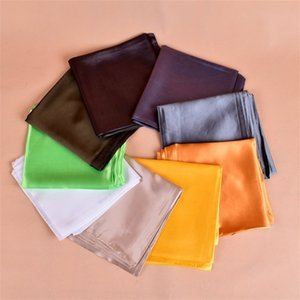 90*90cm White Black Women Square Silk Scarf Wraps Autumn Winter Sjaal Luxury Large Satin Scarves Muslim Head Scarf 71 W2
