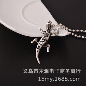 Hip Hop Gecko Pendant Korean Titanium Steel Casting Necklace Man D026
