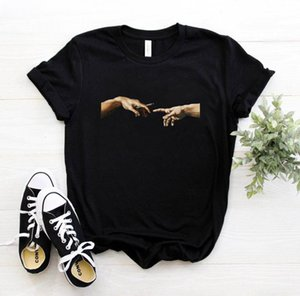 2021 Teas Women's Print Letter T-shirt Casual White Black Pink Short Mouse Cats Summer Tops Brand Clothing