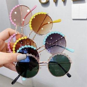 أزياء الاطفال النظارات الشمسية جميلة زهرة الحدود الفتيات بنين مكبرة فوق البنفسجية مقاومة نظارات الطفل ظلال حزب صالح DB744