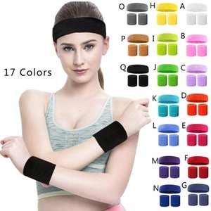 Fashion Sweatband Set Sports 1PC Headband 2PC Wristband Moisture Wicking Absorbing Towel Running Sport Hair Bands F1 Yoga