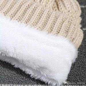 Adults Thick Warm Winter Hat For Women Soft Stretch Cable Knitted Pom Poms Beanies Hats a40