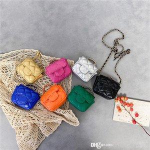 Baby girls mini Purse handbag cute designer zero wallet sweet kids letter rhomboid chain single shoulder bag children crossbody bags F728