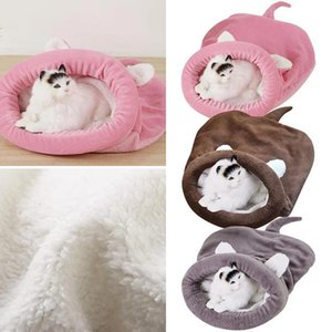 Soft Warm Sleeping Dog Bed Pets Winter Fleece Cat Sleeping Bag Bed For Puppy Small Dogs Pets Cat Mat Kennel House LK