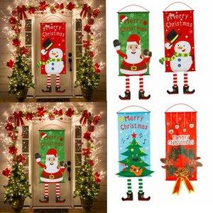 Decoraciones de Navidad 115 * 40 cm Feliz Bannr Guirnalda para el hogar Noel Porche Sign Ornamentos Navidad Navidad Natal Año Decoración 2021
