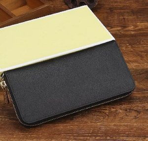 fashion 2020 new famous unisex long wallet PU leather six color   support